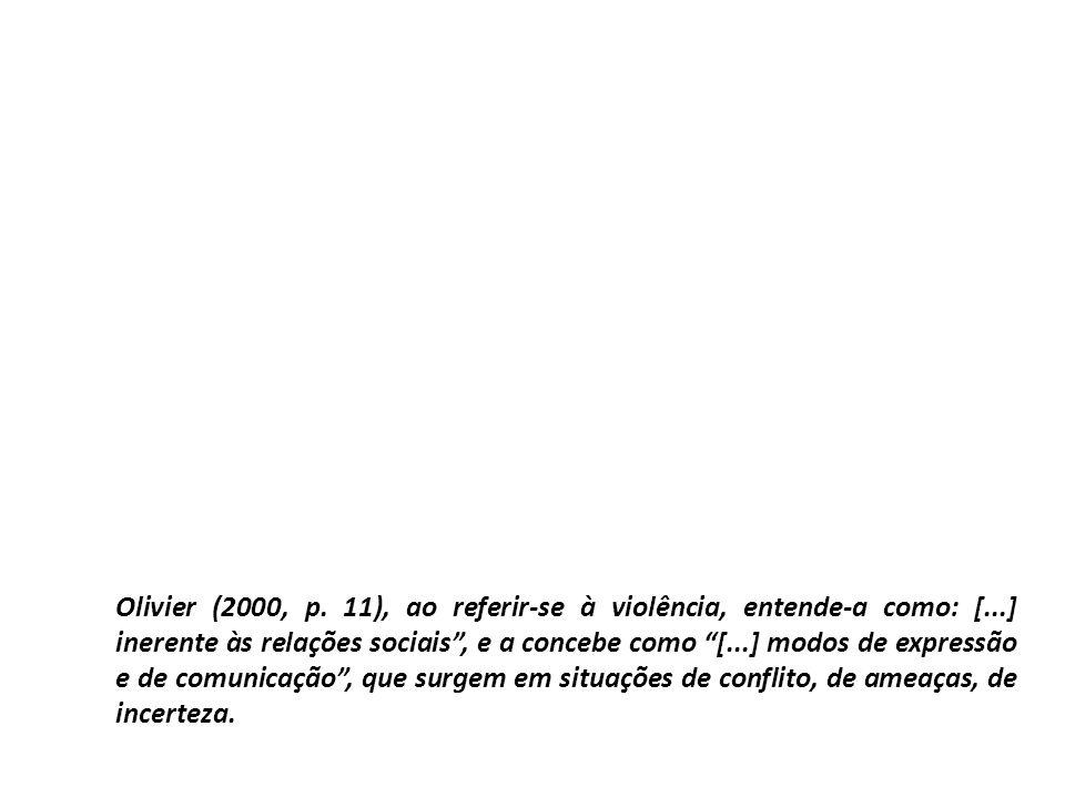 Olivier (2000, p. 11), ao referir-se à violência, entende-a como: [